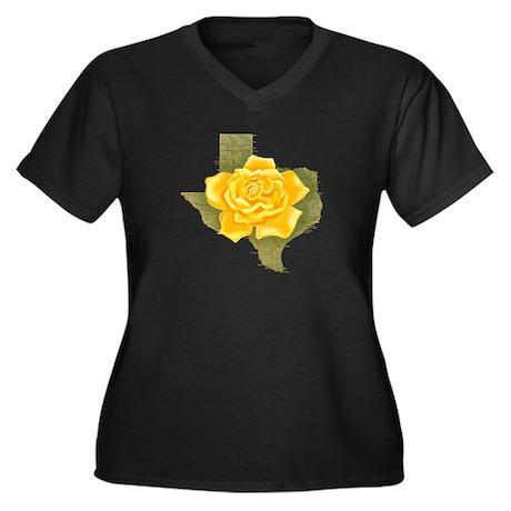 Yellow Rose of Texas Women's Plus Size V-Neck Dark