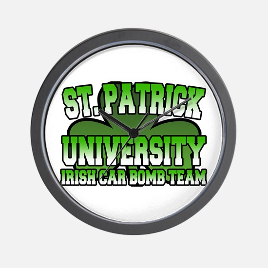 St. Patrick University Irish Car Bomb Team Wall Cl