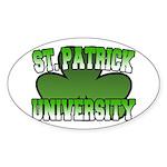 St. Patrick University Oval Sticker
