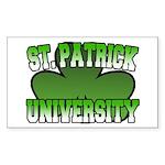 St. Patrick University Rectangle Sticker