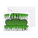St. Patrick University Greeting Card