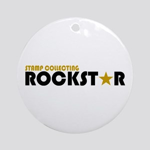 Stamp Collecting Rockstar 2 Ornament (Round)