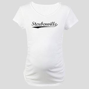 Vintage Steubenville (Black) Maternity T-Shirt
