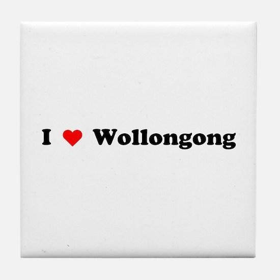 I love Wollongong Tile Coaster