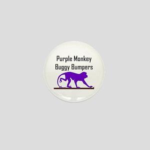 Purple Monkey Buggy Bumpers Mini Button