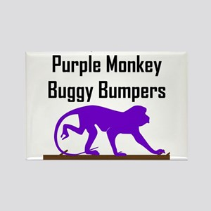 Purple Monkey Buggy Bumpers Rectangle Magnet