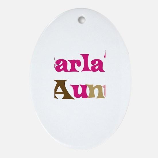 Carla's Aunt Oval Ornament