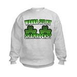 Wanna See My Shamrocks Kids Sweatshirt