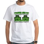 Wanna See My Shamrocks White T-Shirt