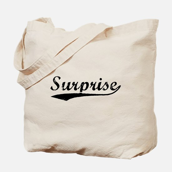 Vintage Surprise (Black) Tote Bag