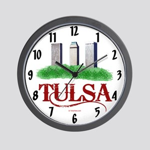 Tulsa Towers Wall Clock