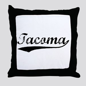 Vintage Tacoma (Black) Throw Pillow