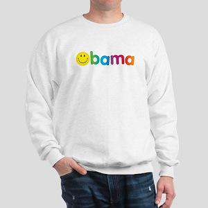 Obama Smiley Face Rainbow Sweatshirt