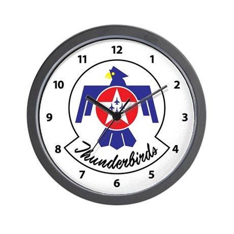 AIR FORCE THUNDERBIRDS WALL CLOCK