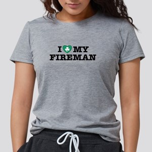 I Love my Irish Fireman Women's Dark T-Shirt