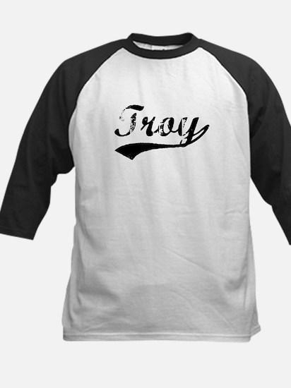 Vintage Troy (Black) Kids Baseball Jersey
