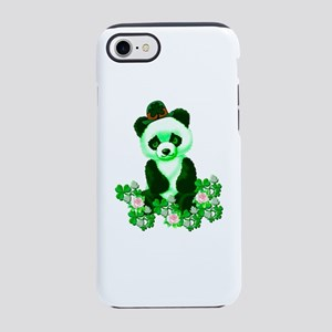 St. Patrick's Day Green Pand iPhone 8/7 Tough Case