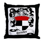 Hessler Family Crest Throw Pillow