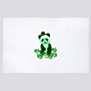 St. Patrick's Day Green Panda 4' x 6' Rug
