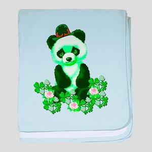 St. Patrick's Day Green Panda baby blanket