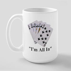 Texas Hold Em Poker Large Mug