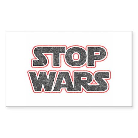 Stop Wars Rectangle Sticker