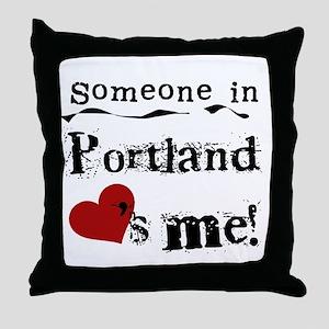 Portland Loves Me Throw Pillow