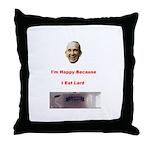 The Joy of Lard Throw Pillow