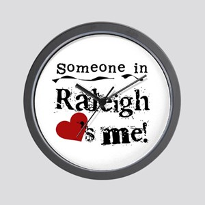 Raleigh Loves Me Wall Clock