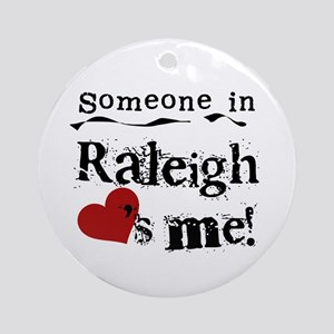 Raleigh Loves Me Ornament (Round)
