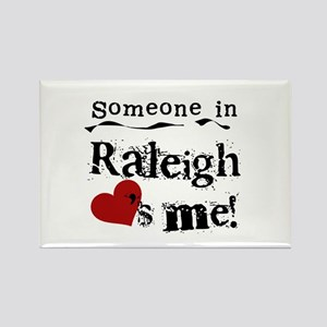 Raleigh Loves Me Rectangle Magnet