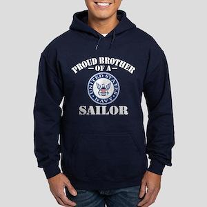 Proud Brother Of A US Navy Sailor Hoodie (dark)
