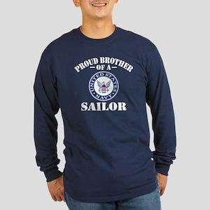 Proud Brother Of A US Nav Long Sleeve Dark T-Shirt