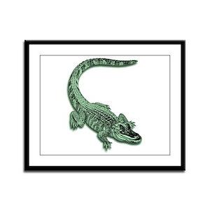 Florida Alligator Framed Panel Print