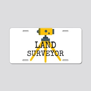 Land Surveyor Aluminum License Plate