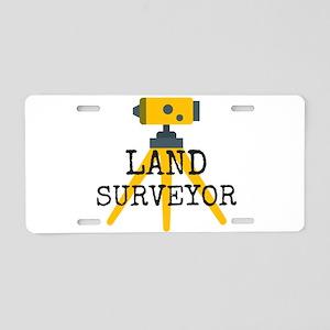 Land Surveyor Aluminum License Plate