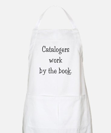 Catalogers work by the book. BBQ Apron