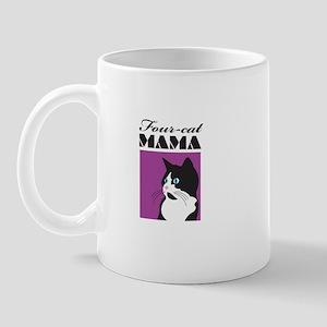 Four-Cat Mama Mug
