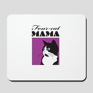 Four-Cat Mama Mousepad