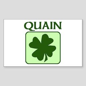 QUAIN Family (Irish) Rectangle Sticker