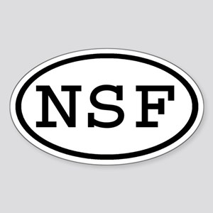 NSF Oval Oval Sticker