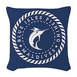 Queen Duvet Cover Woven Throw Pillow