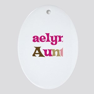 Kaelyn's Aunt Oval Ornament