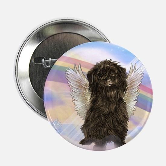 Affenpinscher Angel in Clouds Button