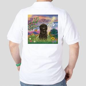 Cloud Angel & Affenpinscher Golf Shirt