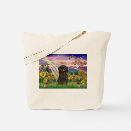 Autumn Angel & Affenpinscher Tote Bag