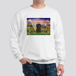 Autumn Angel & Affenpinscher Sweatshirt