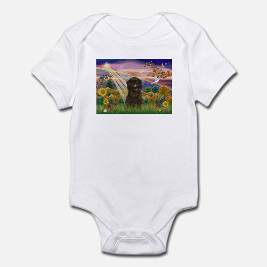 Autumn Angel & Affenpinscher Infant Creeper