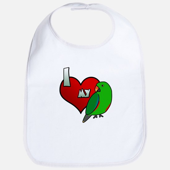 Love Red-Sided Eclectus Bib