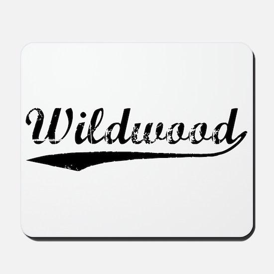 Vintage Wildwood (Black) Mousepad